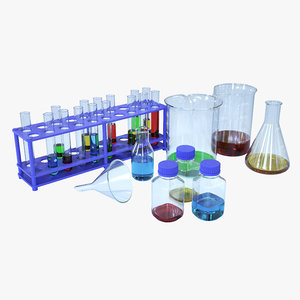 lab glassware 3D model