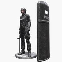 character riot 3D model