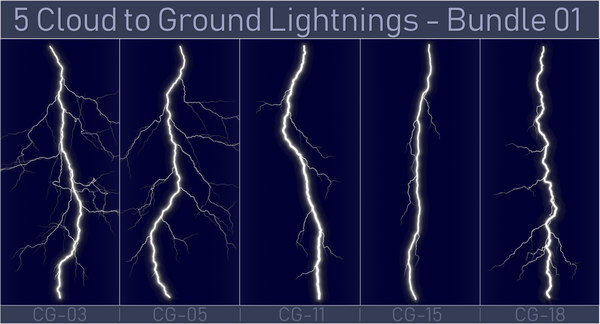 pack 5 lightnings - 3D