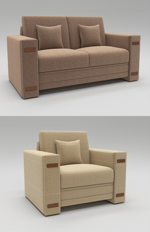 single seating modern luxury 3D model