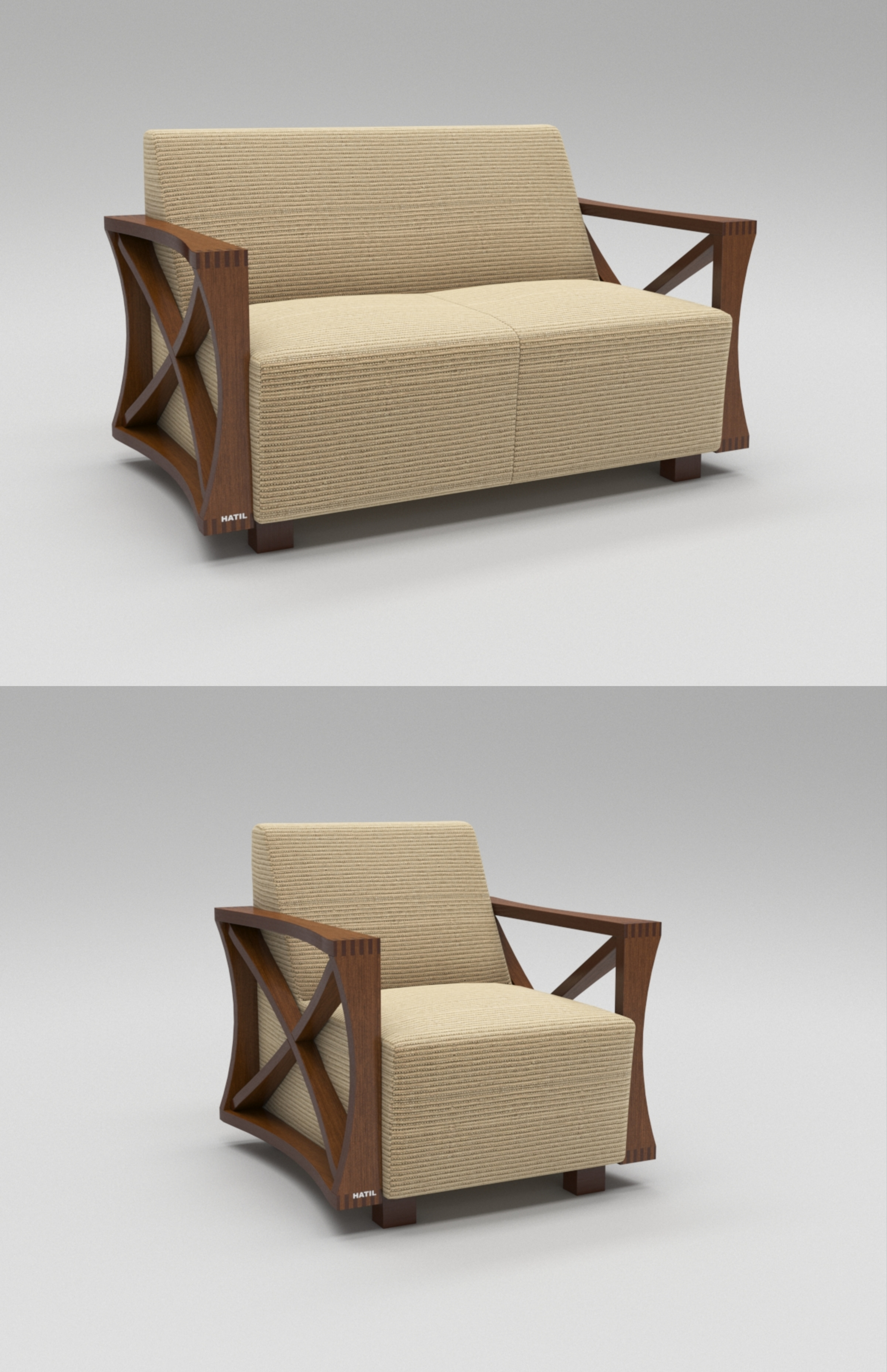 Single Seating Sofa Model