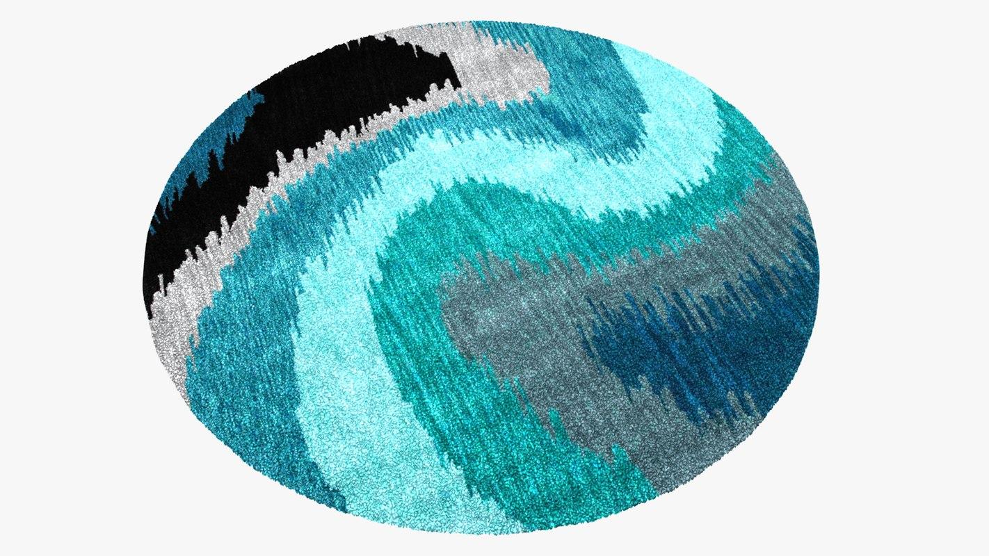 3D area rug design