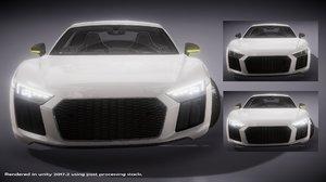 3D model super sports car vehicle