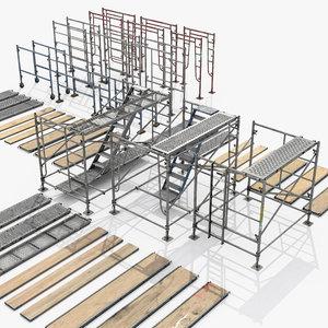 scaffolds module 3D model