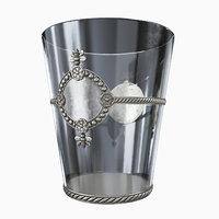 glass bee ice bucket 3D model