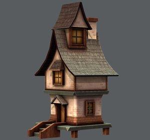 house cartoon v06 3D model