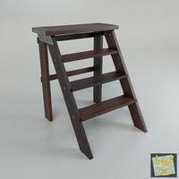 3D model ladder steps