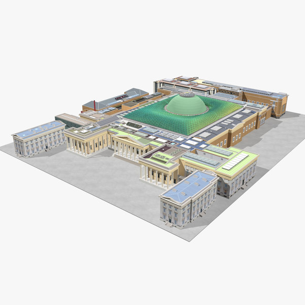 3D british museum london building