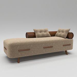 3D model luxury divan sofa