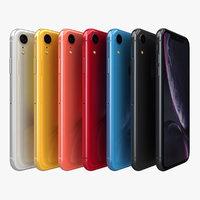 3D apple iphone xr color model