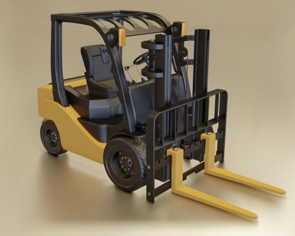 3D model toyota forklift