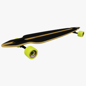 longboard hudora 3D model