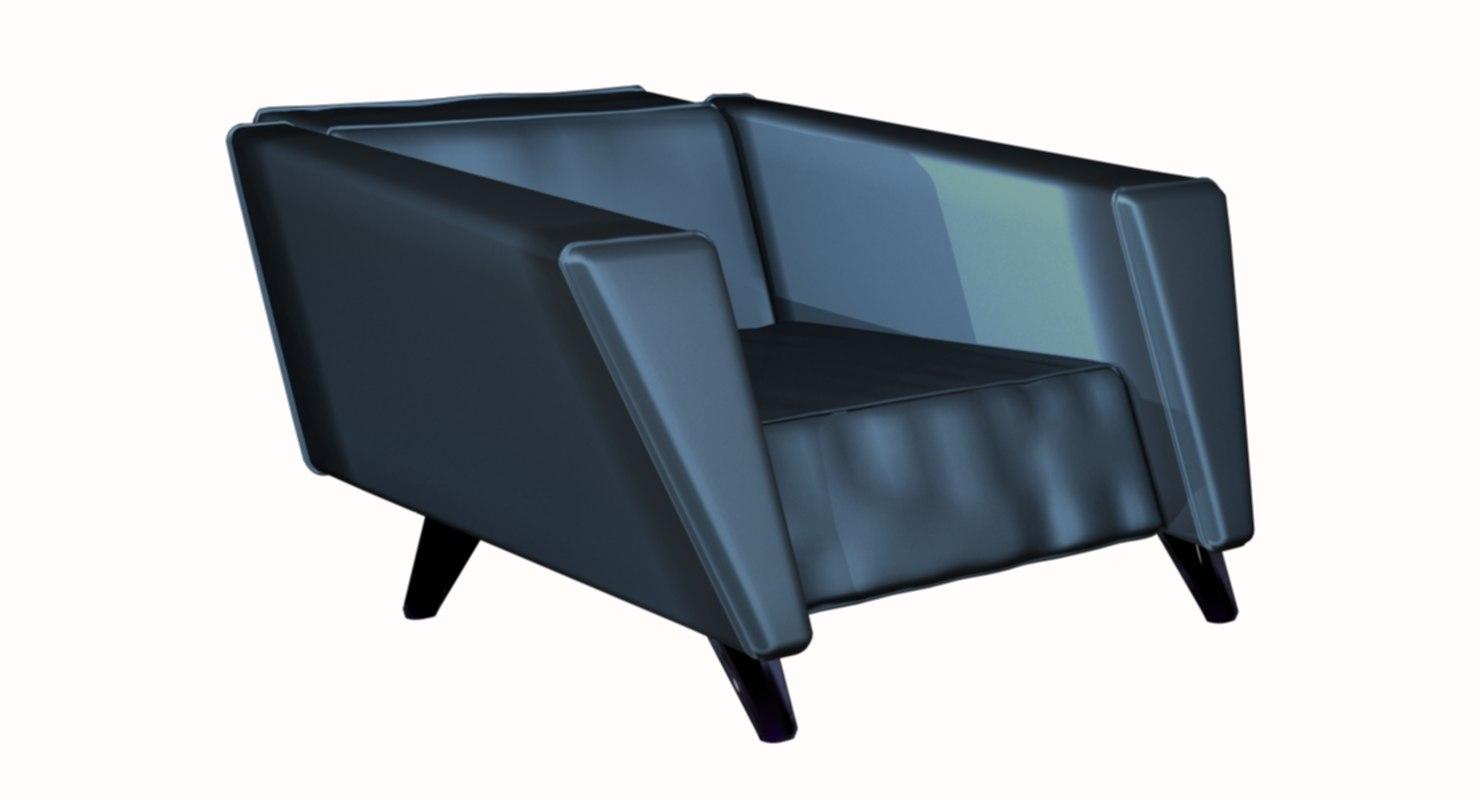 3D designer chair loft model