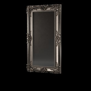 3D baroque mirror frame