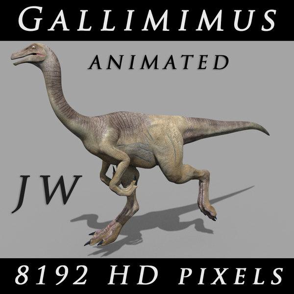 jurassic gallimimus animation hd 3D
