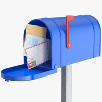 Home Mail Box With Envelopes