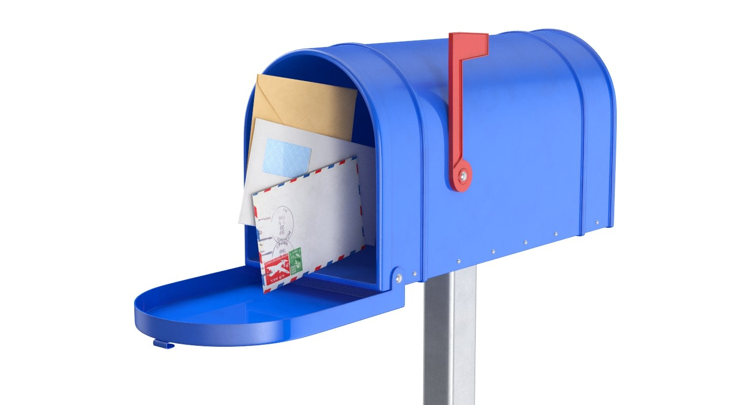 mail box envelopes 3D model