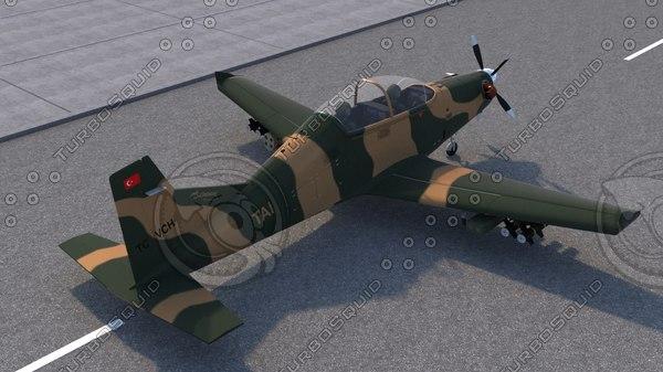 3D hurkus airplane