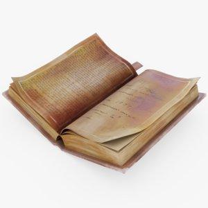3D stylized book open
