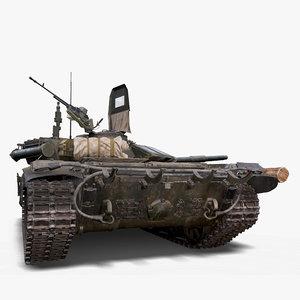 3D main battle tank modeler model
