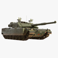 3D ariete main battle tank