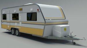 3D caravan trailer model