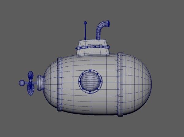 submarine toon model