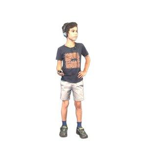 3D cool kid headphones