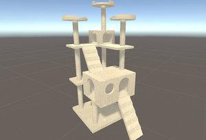 cat s tree house 3D model