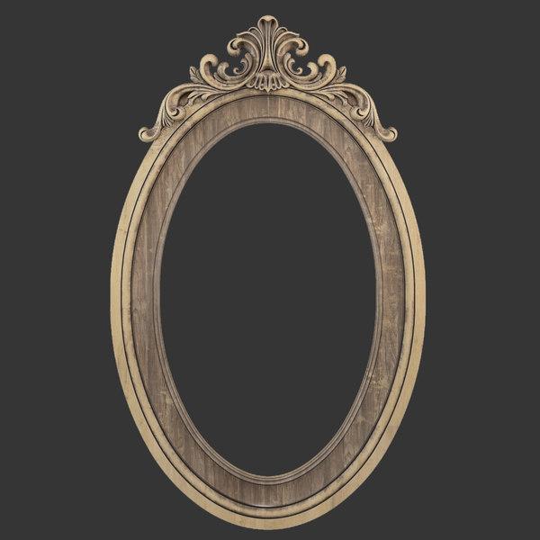 frame oval mirror 3D model