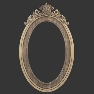 frame oval mirror 3D model