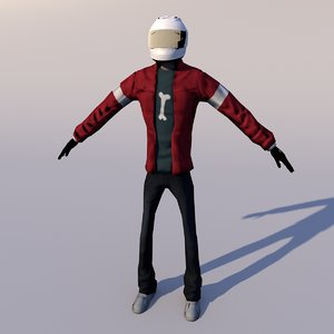 3D nico human character rigging model