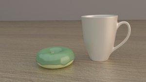 3D mug donat