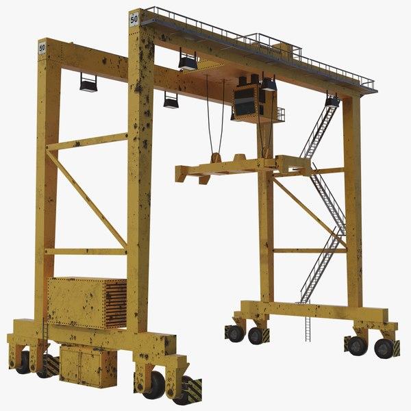 rtg gantry crane model