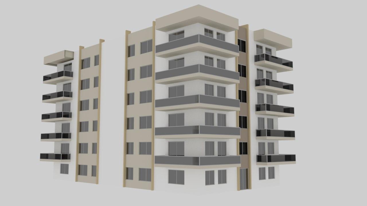 3D apartment cartoon cityscape
