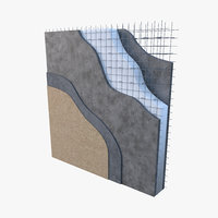 3D panel constructive eps concrete-detail