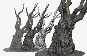 scanned tree trunk 16k model