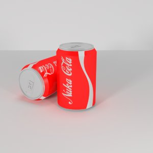 soda nuka cola 3D model