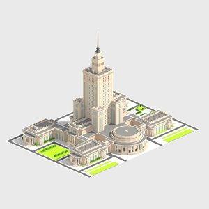 3D model monumental skyscrapper
