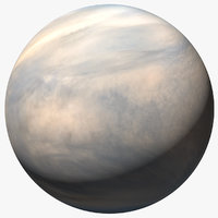 3D venus planet atmosphere