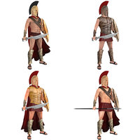 pack rigged king spartan 3D