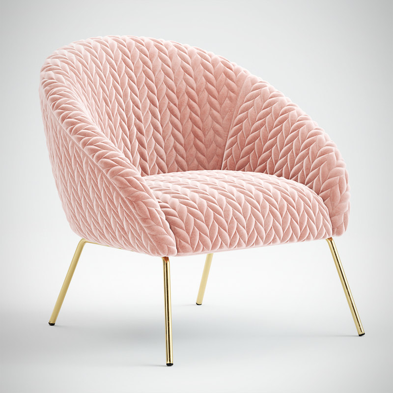 3D model anthropologie armchair