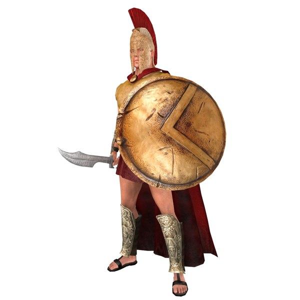 rigged spartan warrior 2 3D model