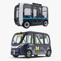 Self Driving Buses 3D Models Collection