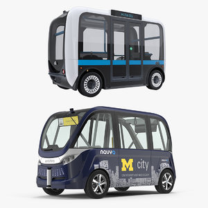 self driving buses bus 3D model