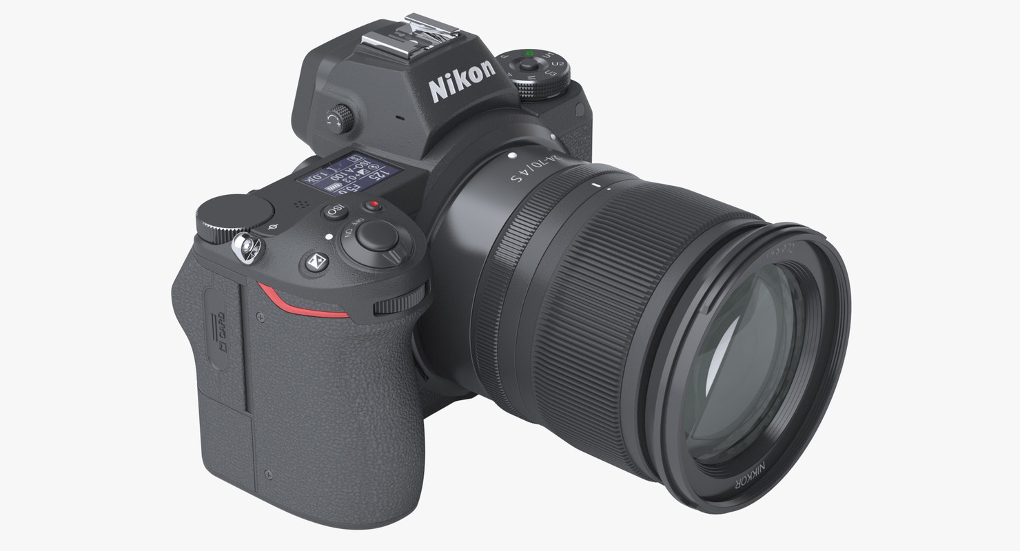 3D photoreal nikon z7 mirrorless model