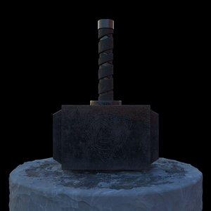 hammer god 3D model