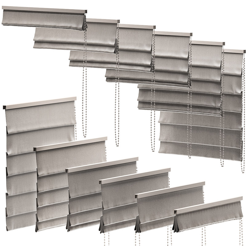 curtains 40 blinds 3D model