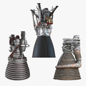 rocket engines 2 3D model