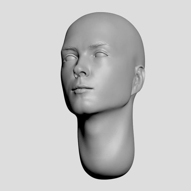 nation heads 3D model